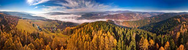 Fotoobraz – Dolina Popradu nad Muszyną z góry Malnik jesienią #05430